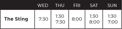Showtimes at a glance